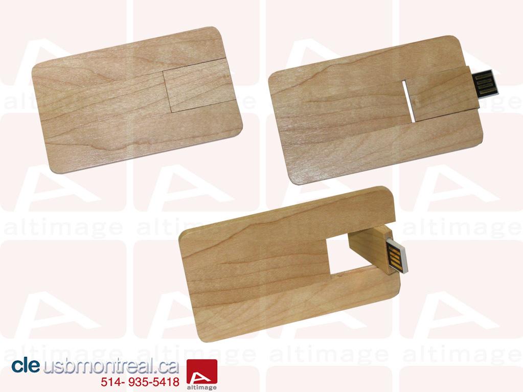 carte USB en bois