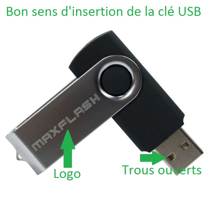 insertion cle usb