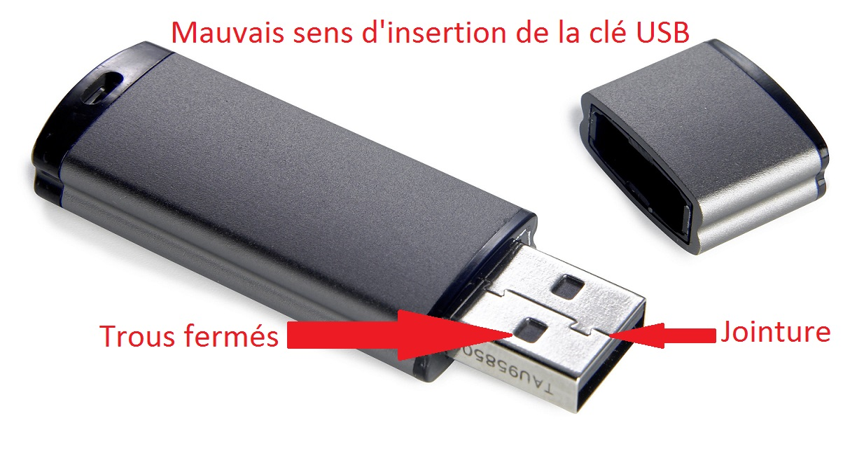 insertion cle usb 2