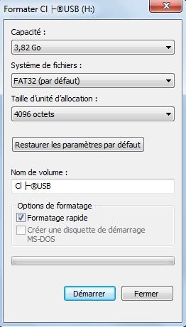 Astuce : Formater sa clé USB