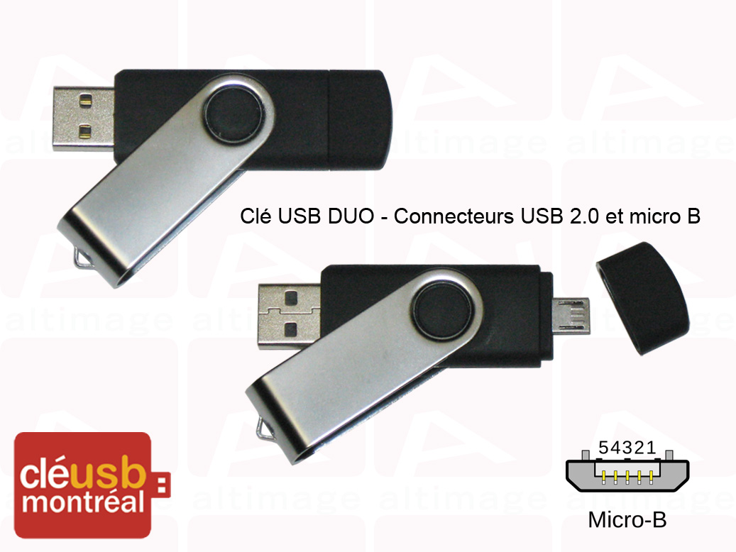 clés usb double connecteurs